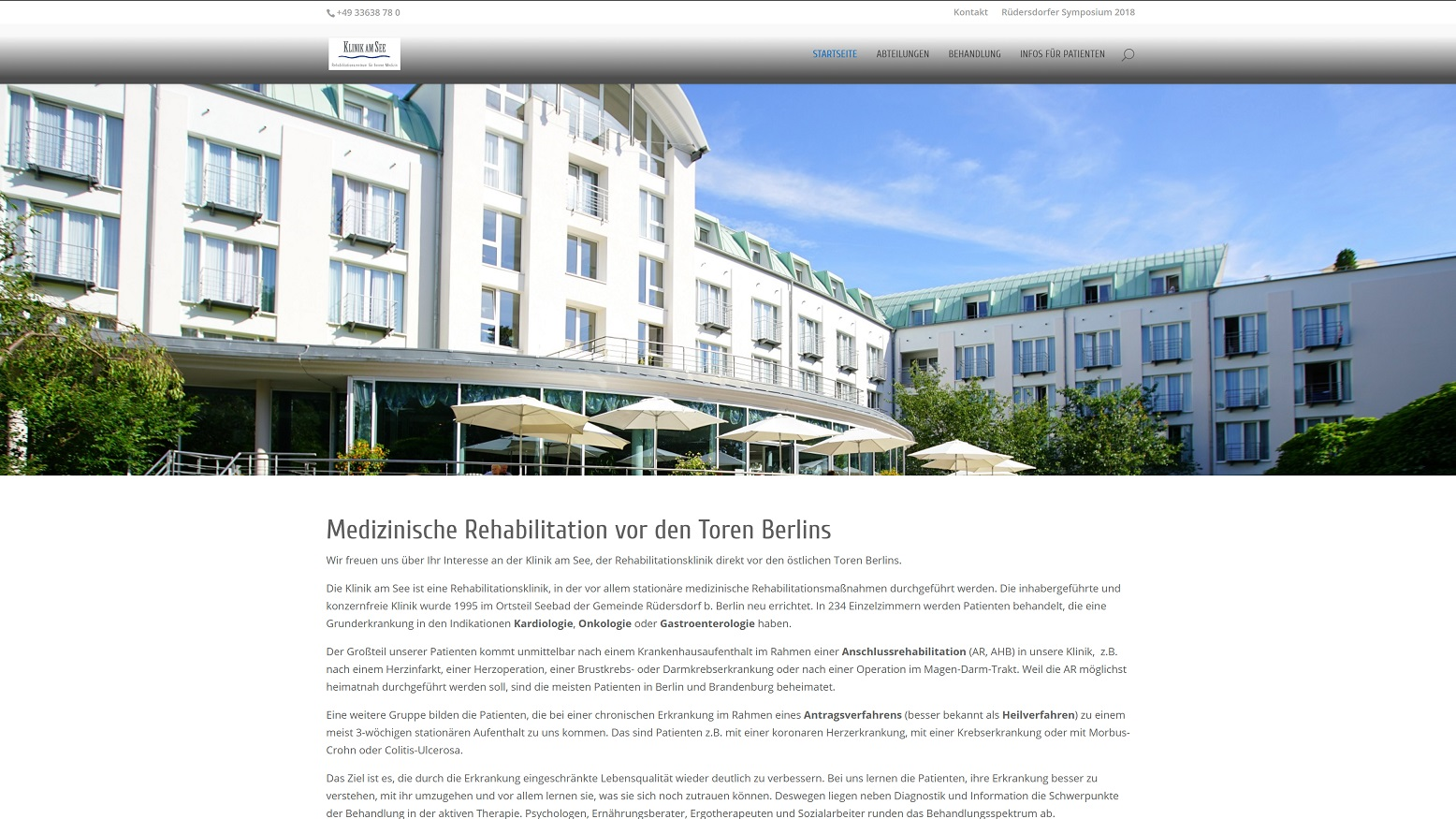 neue Homepage der Klinik am See | Klinik am See